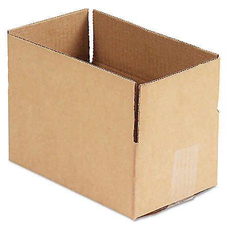 """General Supply Brown Corrugated - Fixed-Depth Shipping Boxes, 10"""" L x 6"""" W x 4"""" H, 25/Bundle"""