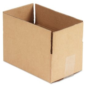 "General Supply Brown Corrugated - Fixed-Depth Shipping Boxes, 10"" L x 6"" W x 4"" H, 25/Bundle"