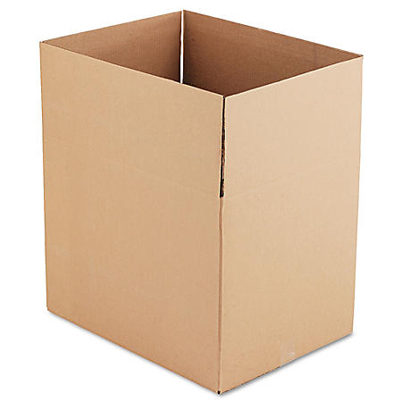 """General Supply Brown Corrugated - Fixed-Depth Shipping Boxes, 24"""" L x 18"""" W x 18"""" H, 10/Bundle"""