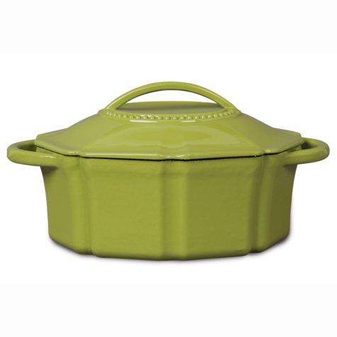 Isaac Mizrahi 6 qt Cast Iron Dutch Oven with Lid - Green