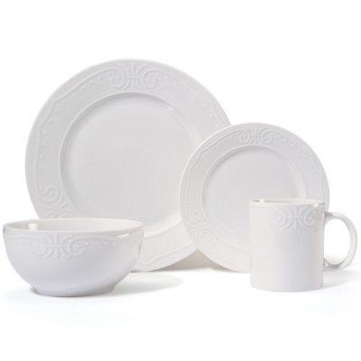 Pfaltzgraff 32-Piece Embossed White Dinnerware Set Detail 2  sc 1 st  Samu0027s Club & Samu0027s Club - Pfaltzgraff 32-Piece Embossed White Dinnerware Set
