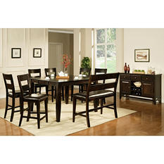 Weston Counter Height 5-Piece Set by Lauren Wells - Espresso