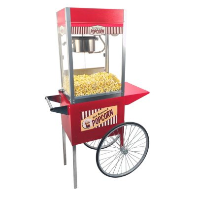 Vintage Popcorn Machine & Cart Bundle