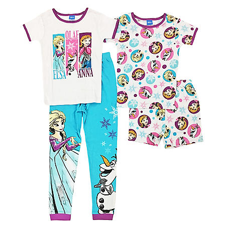 47672f110 Girls' Frozen Trio 4-Piece Cotton Pajama Set - Sam's Club