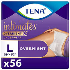 TENA Incontinence Overnight Underwear for Women Bundle, Large (56 ct.)