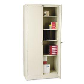 "Tennsco 36 x 18"" 4-Shelf Deluxe Storage Cabinet, Putty"