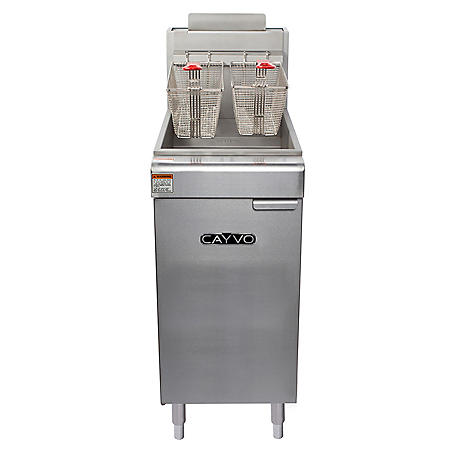 Cayvo Four Tube Free-Standing Natural Gas Fryer (50 lb. capacity)