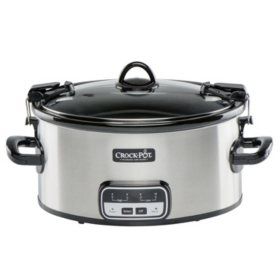 Crock-Pot 6-Quart Cook and Carry Slow Cooker with Little Dipper Warmer (Assorted Colors)