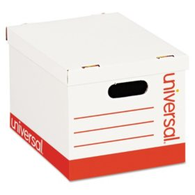 Universal Economy Storage Box, Lift-Off Lid, White (Letter/Legal, 12ct.)