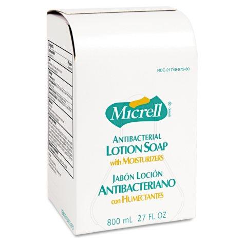 Micrell Antibacterial Lotion Soap Refill - 800 mL - 12 bags