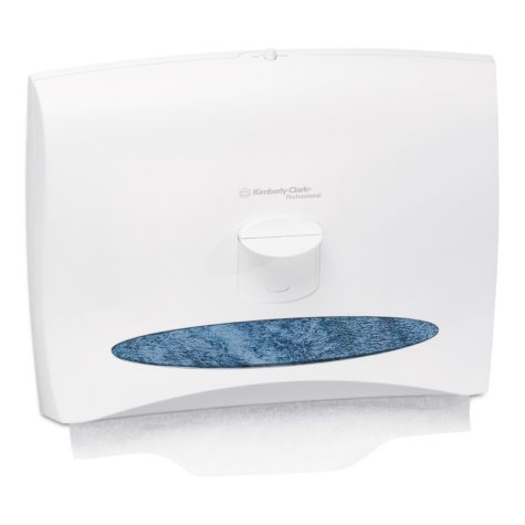 Kimberly-Clark Professional - Personal Seats Toilet Seat Cover Dispenser, 17 1/2 x 2 1/4 x 13 1/4 -  White