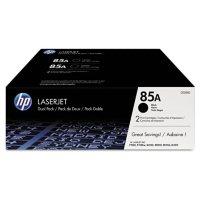 HP 85A Original Laser Jet Toner Cartridge, Black (1,600 Yield) - 2 Pack