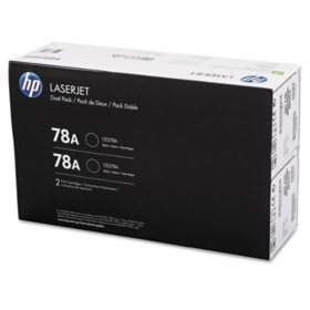 HP 78A Original Laser Jet Toner Cartridge, Black (2,100 Page Yield) - 2 Pack