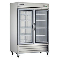 Maxx Cold X-Series Double Glass Door Commercial Refrigerator, Stainless Steel (49 cu. ft.) - White Glove
