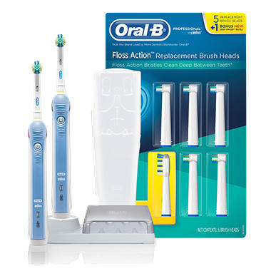 Oral-B Professional Care Electric Toothbrush - 2 pk. & Floss Action Brushes - 6 ct.