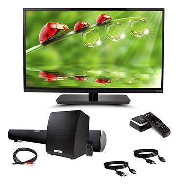"VIZIO 39"" HDTV Home Entertainment Bundle - TV, Soundbar, HDMI Cables, Co-star Streaming Player"