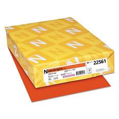Wausau Paper - Astrobrights Colored Paper, 8-1/2 x 11, Orbit Orange - 500 Sheets/Ream