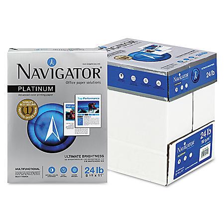 Navigator - Platinum Paper, 99 Brightness, 8-1/2 x 11, White - 2500/Carton