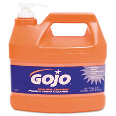 GOJO Natural Orange Pumice Hand Cleaner, Orange Citrus (1 gal Pump)