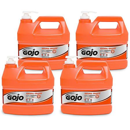 GOJO Natural Orange Pumice Hand Cleaner, Orange Citrus (1 gal. pump, 4 pk.)