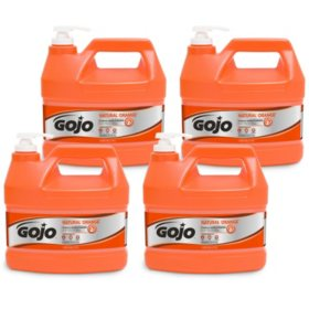 GOJO Natural Orange Pumice Hand Cleaner, Orange Citrus (1 gal. pump, 4 pk.)