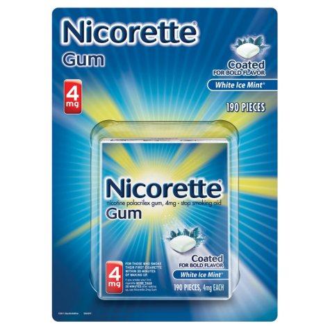 NICORETTE WHITE ICE 4 MG 190 CT