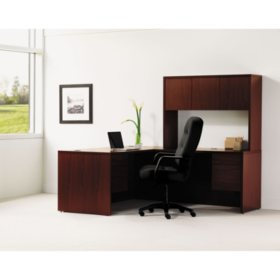 """Hon 10500 Series 66"""" L-Workstation with Stack-on Storage, Select Color"""