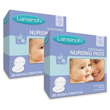 Lansinoh Ultra Soft Disposable Nursing Pads, 2/36 ct.