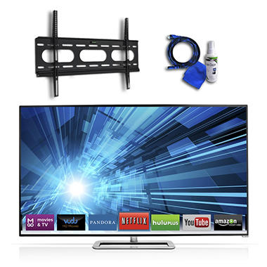 "65"" VIZIO Razor LED 1080p 240Hz 3D Smart TV w/ Low Profile Mount, 8ft HDMI Cable and Cleaning Kit"