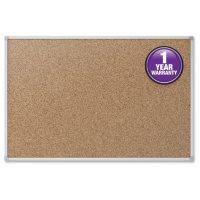 "Mead Cork Bulletin Board, 36"" x 24"", Aluminum Frame"