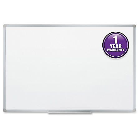 "Mead Dry-Erase Board, 36"" x 24"", Aluminum Frame"