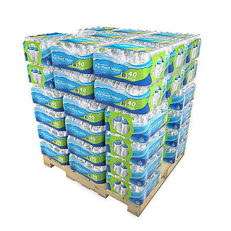 Member S Mark Purified Bottled Water Pallet 48 Cases Sam S Club