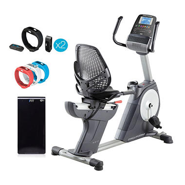 ProForm 4 0 RT Recumbent Bike w/ iFit Active Trackers(2), Module and