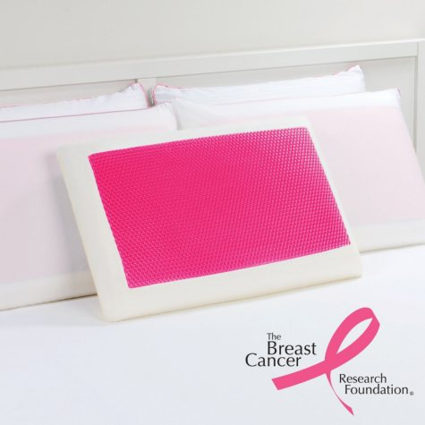 Dreamfinity Cooling Gel and Memory Foam Pillow - Pink
