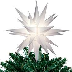 """Lighted LED Tree Topper Star - 12"""""""