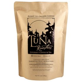 Luna Roasters Artisan Roast Whole Bean Coffee, Jamaican Blue Mountain (2 lb.)