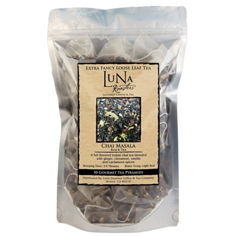 Luna Roasters Gourmet Tea, Black Tea Pyramids, Choose Flavor (50 ct.)