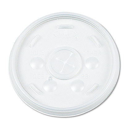 Dart Hot and Cold Foam Cup Plastic Lids, Straw Slot, 16 oz. (1,000 ct.)