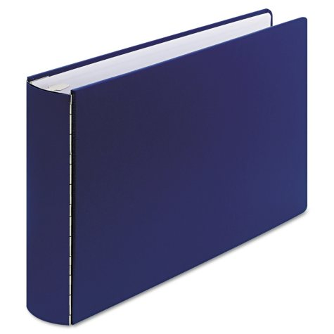 "Wilson Jones Mediumweight Casebound DublLock Round Ring Binder, 11 x 17, 2"" Capacity - Blue"