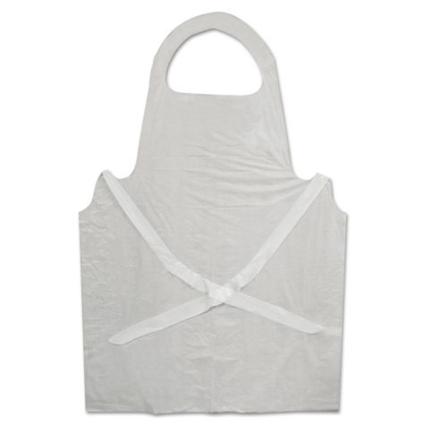Boardwalk Disposable Apron, Polypropylene, White (100pk.)