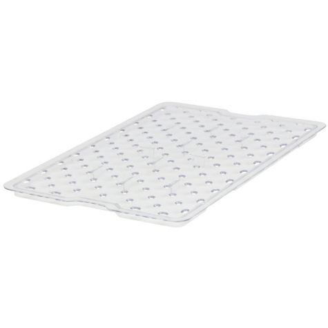 """Rubbermaid Commercial Drain Trays - 18""""W x 12""""D - Clear"""
