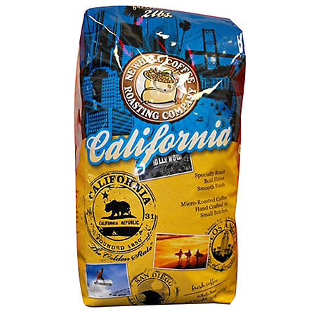 Newhall California Blend 100% Premium Arabica Coffee - Whole Bean - 2 lbs.