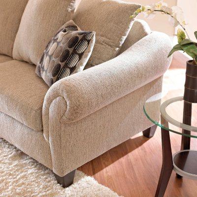 Chas Sofa Set   Graphite   4 Pc. Detail 2