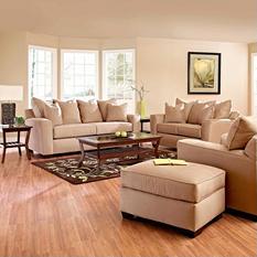 Angel Sofa Set - Khaki - 4 pc.
