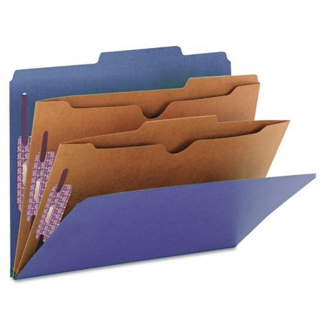 Smead Pressboard Classification Folders - Letter Size - 10 ct.