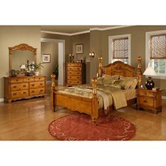 Vivian Post Bed Bedroom Set (Choose Size)