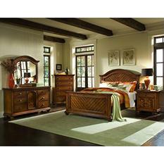 Addison Chestnut Panel Bed (Choose Size)