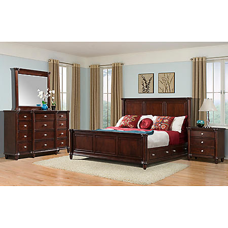 Gavin Bedroom Furniture Set with Storage Bed (Assorted Sizes ...