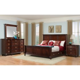 Gavin Bedroom Furniture Set with Storage Bed (Assorted Sizes)