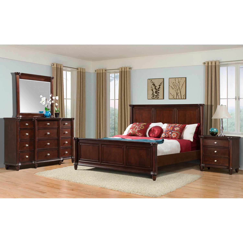 4-Piece Society Den Gavin Bedroom Furniture Set (Queen)